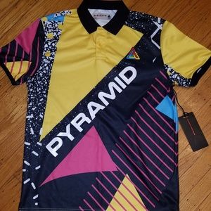 Black Pyramid Shirts - Black Pyramid Color Block Polo Shirt | Med | NWT